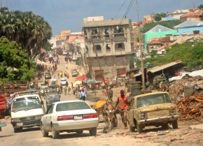 Liberia street in Mogadishu, Somalia